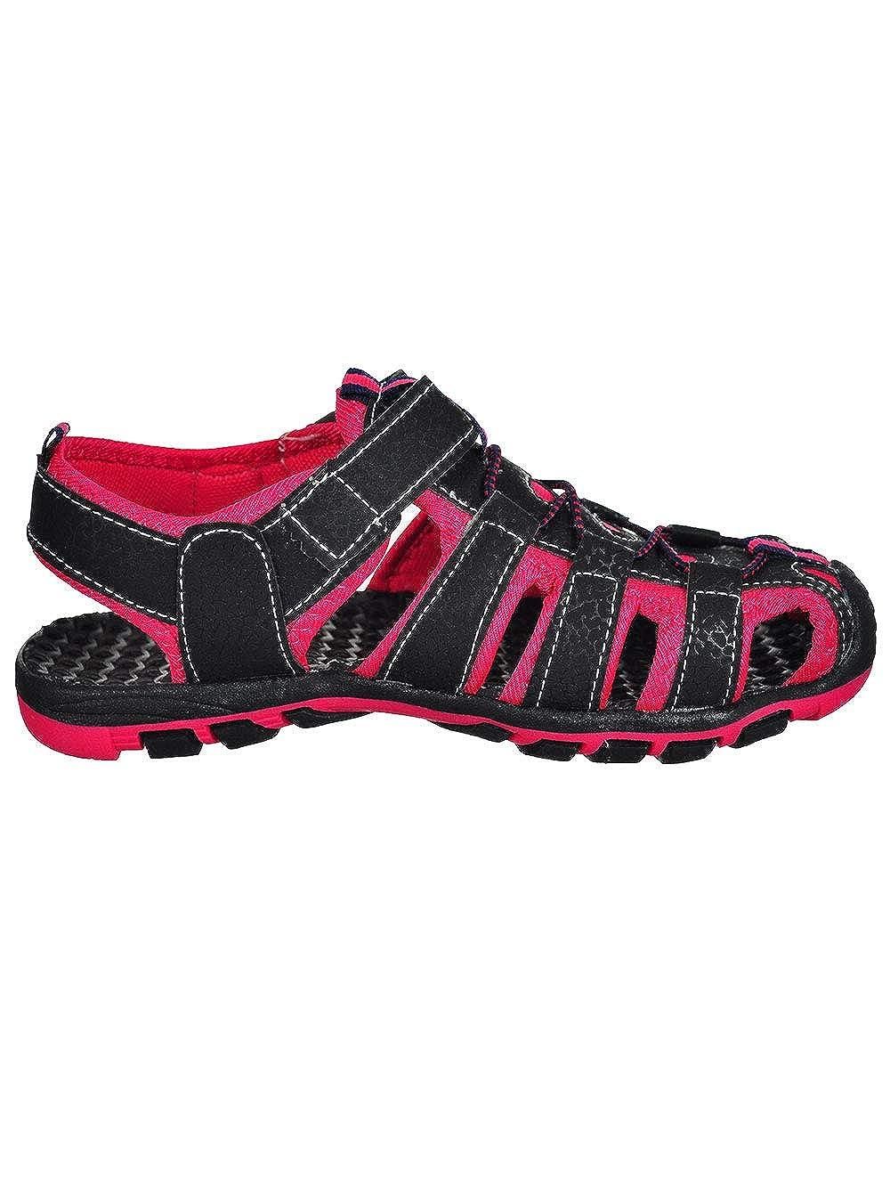 1 Youth Rugged Bear Boys Sport Sandals Black//Fuchsia