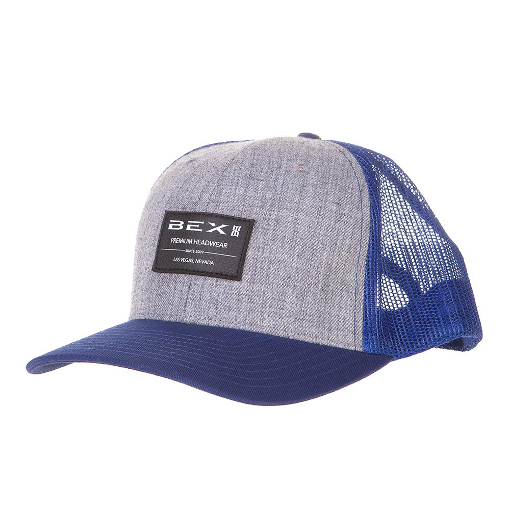 Bex Sunglasses Mens Bicast Blue//Grey Mesh Black Patch Cap Blue//Gray