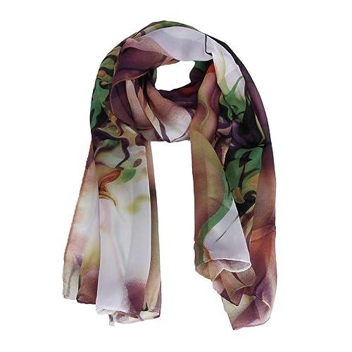 FAMILIZO Dama de la moda largo abrigo bufanda bufandas chal de gasa de las mujeres