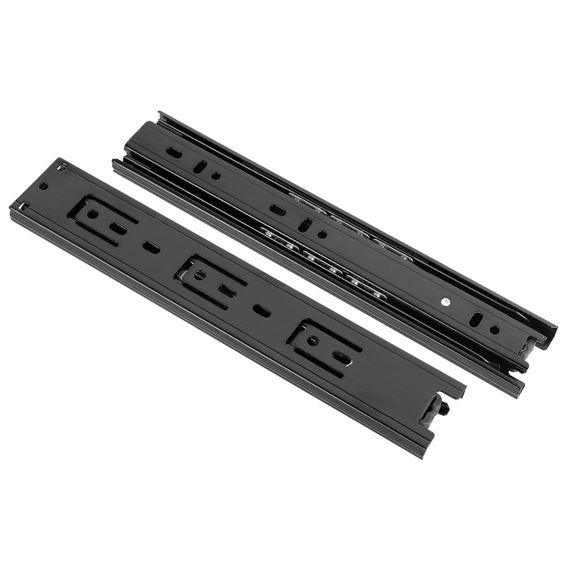Full Extension,9-Inch,100lbs Capacity,40mm Wide Black 1 Pair a18031300ux0178 uxcell Ball Bearing Side Mount Drawer Slides
