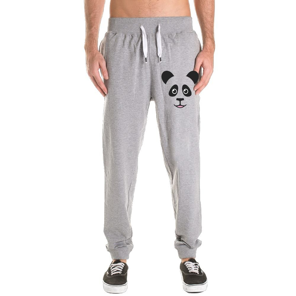 Men Fashion Cute Panda Bear Face Convergent Bottom fallow Motion Pants by Oownabb Qoqo