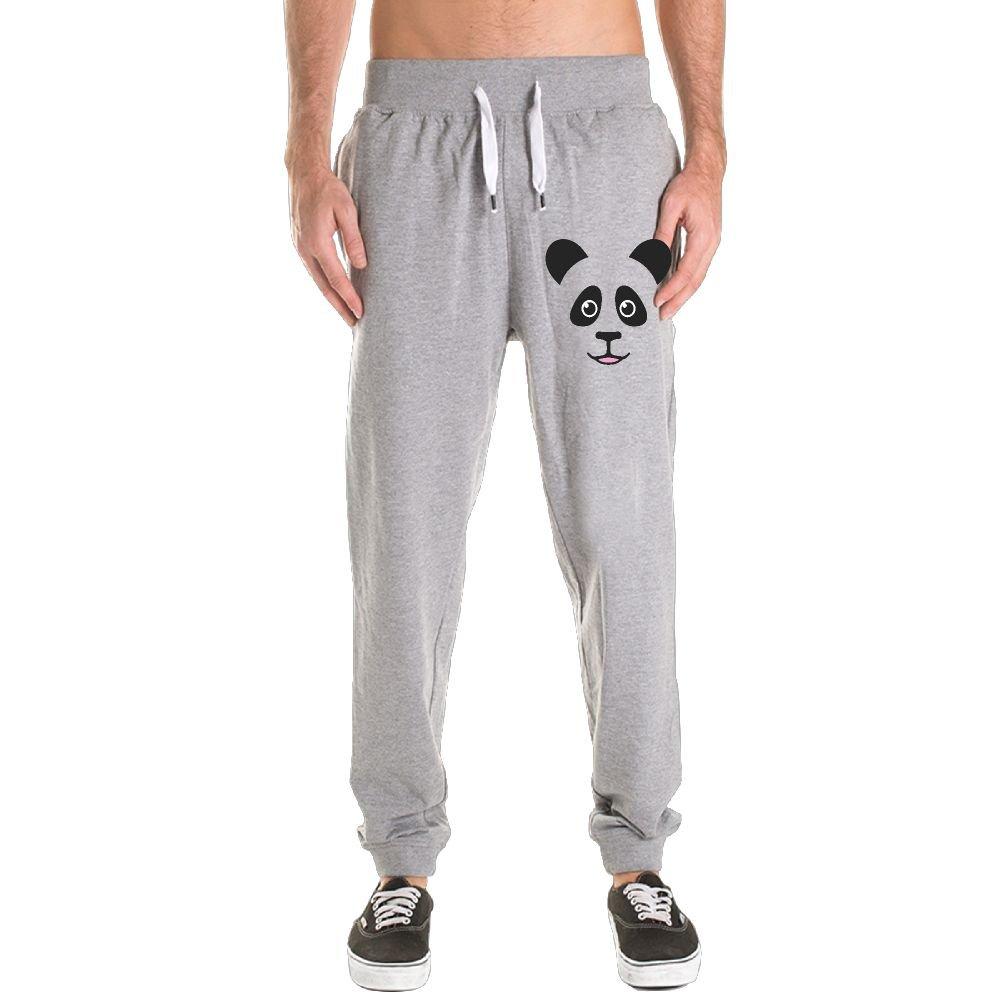 Men Fashion Cute Panda Bear Face Convergent Bottom fallow Motion Pants
