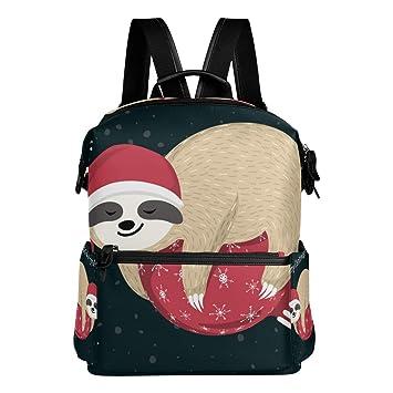 ea7727d500 MERRYSUGAR School Backpack Travel Bag Daypack School Bag for Girls Teens  Boys Kids Cute Sloth Christmas