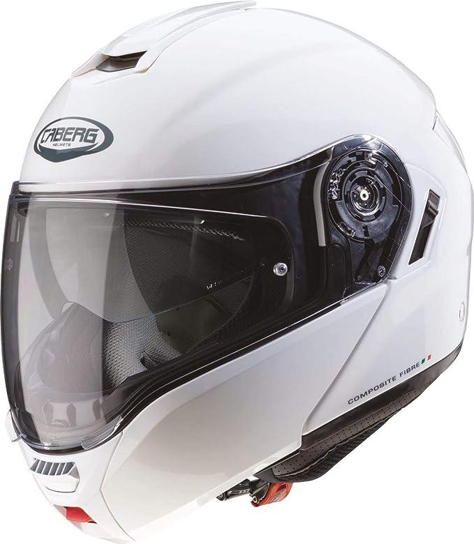 Caberg Levante Motorrad Klapp Helm Weiß Metallic Sonnenblende Pinlock Integral Jet, C0GA00A5, Größe M: Amazon.es: Deportes y aire libre