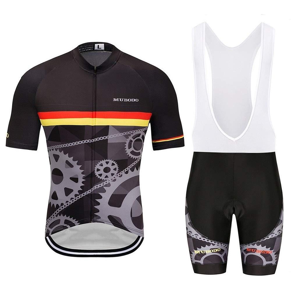 Fahrradanzug Sommer Fahrrad-Kurzarm-Sweatshirt Atmungsaktiver und schnell trocknender Fahrradanzug Fahrrad Trikot LPLHJD