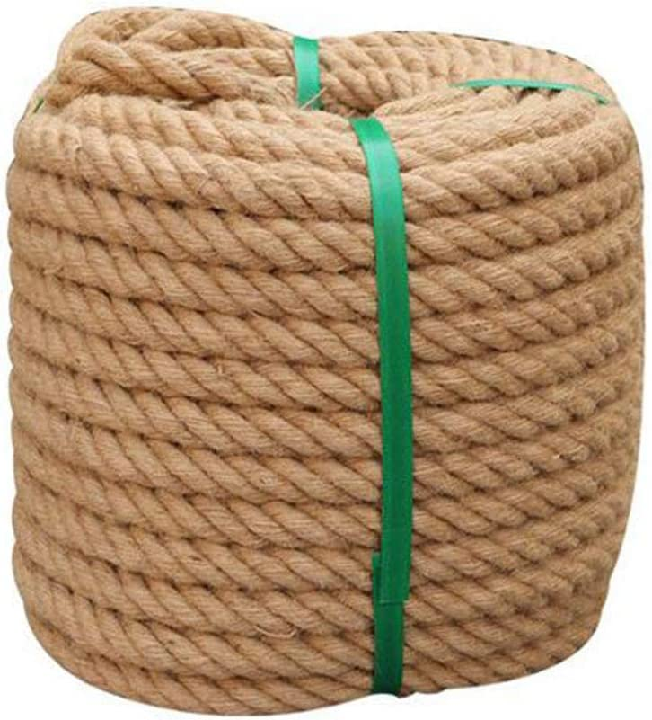 Manualidades Bricolaje Proyectos Marina Natural Cuerda de Yute 22 mm de Grueso Trenzado Cuerda C/á/ñamo Cuerda de sisal Cuerda de arpillera de Hilo Jard/ín Comercial,22mm/_10M