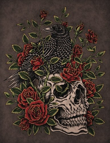 Raven and Roses Sketchbook: Blank Art Pad Notebook Journal (Tattoo You 150 Sketch) (Volume 13)
