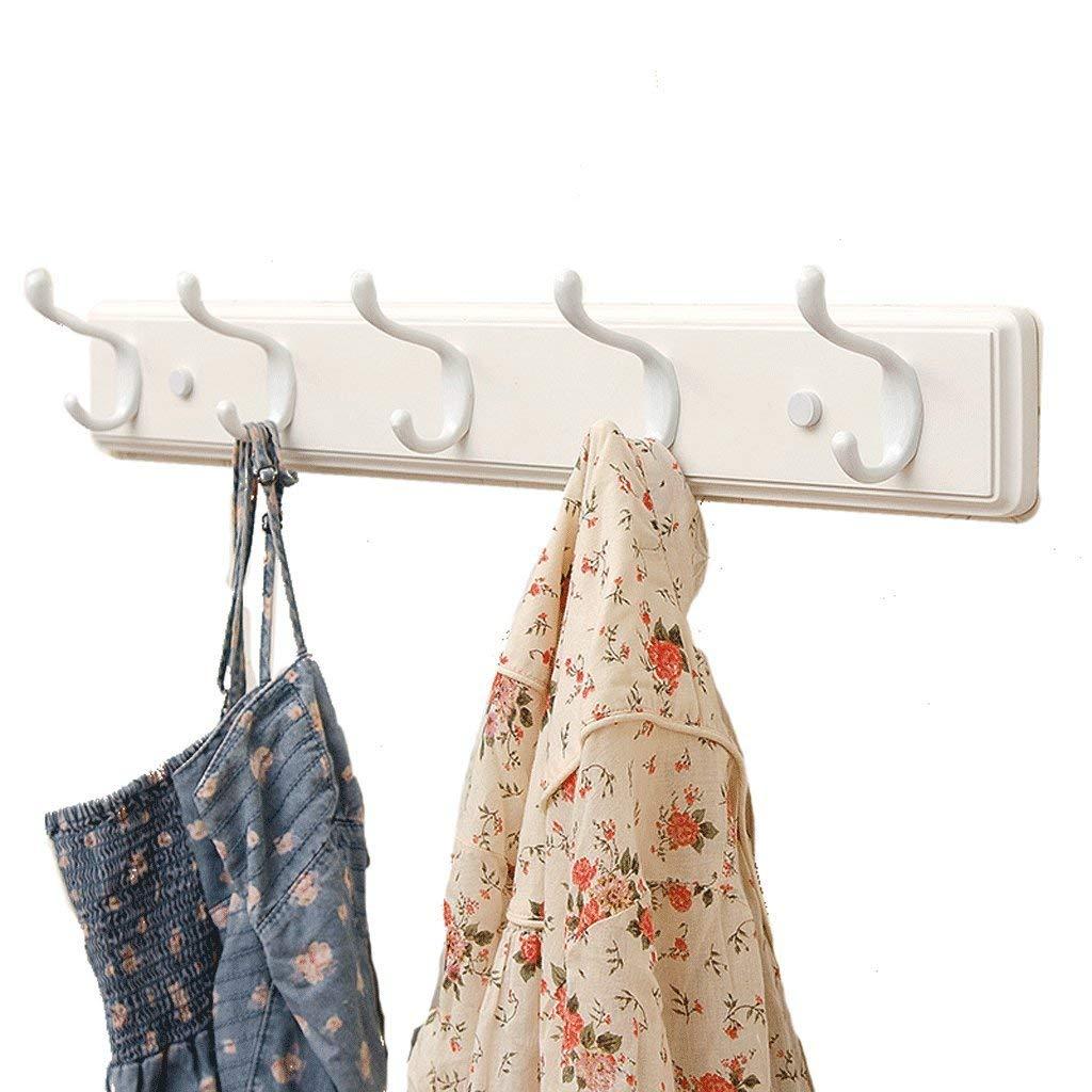 5 hooks Lingyuansale Creative Coat hookolid Wood Hooksultiple Hooks Space Saving Coat Rack (Size   6 Hooks)