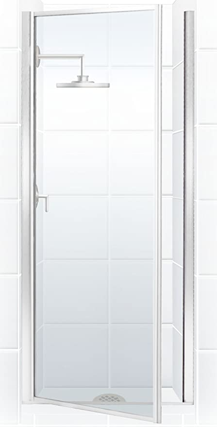 Coastal shower doors legend series framed hinge shower door with coastal shower doors legend series framed hinge shower door with clear glass 24quot x planetlyrics Image collections