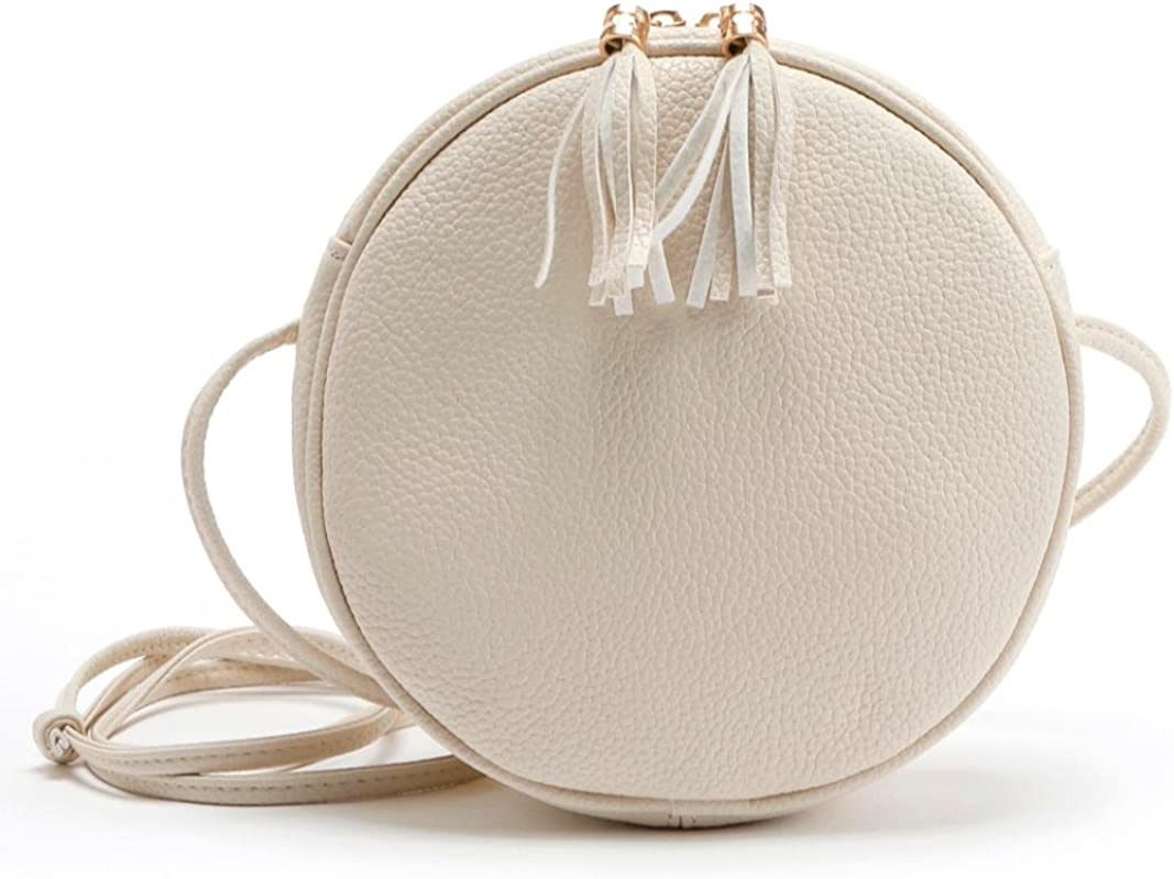 Amlaiworld Umh/ängetasche Frauen M/ädchen Runde Leder Handtasche Umh/ängetasche Messenger