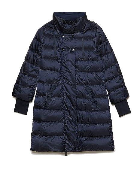 Motivi   Piumino Flared con Cappuccio Blu 38 (Italian Size)  Amazon.it   Abbigliamento 1d3aa7112763