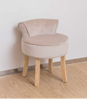 Vanity stool - LINEN and COTTON - Colour PINK: Amazon.co.uk ...