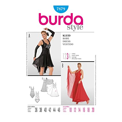 Burda B7879 Pattern Womens/misses Ballroom Dress Pattern (Size 10 to 24 Inches,