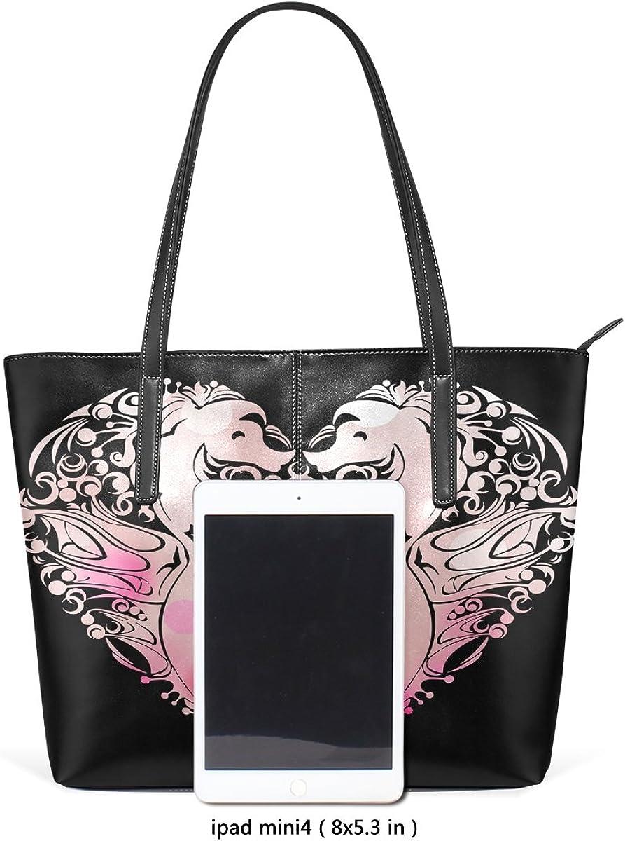 Ethel Ernest Seahorses Love Heart Womens Purse PU Leather Shoulder Tote Bag