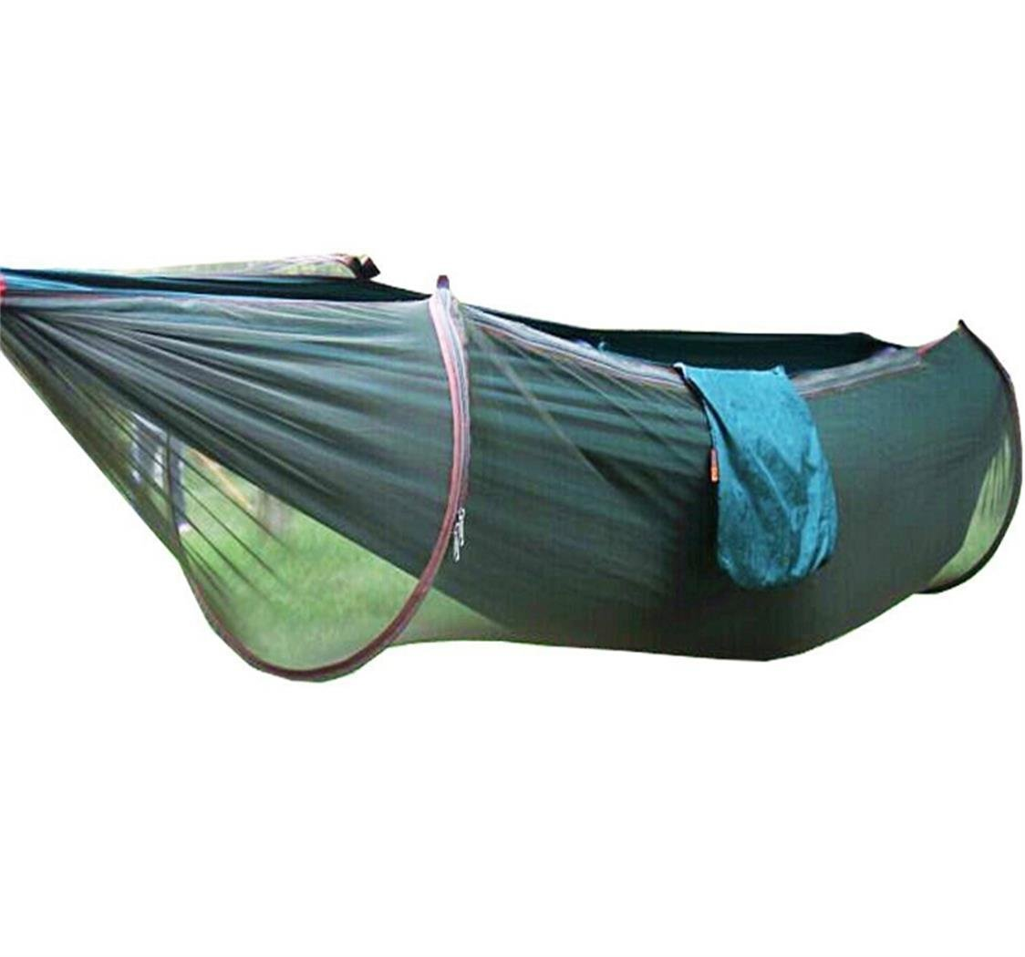 Camping hiking hammock mosquito net outdoor travel bed for Net hammock bed