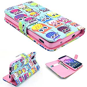 Highsound Nice Pink Silicone Mobile Phone Leather Case With Colorful Cute OWLs For LG Nexus 5