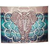 Mofeng Bohemian Mandala Elephant Home Decor Wall Decoration Wall Hanging Tapestry Beach Blanket, 79'' x 59''