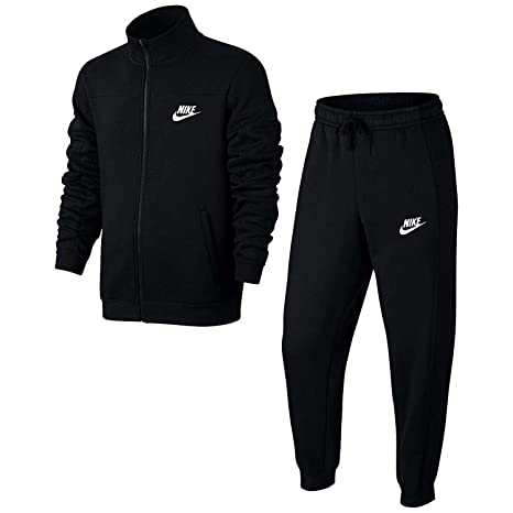 the sale of shoes fashion free delivery NIKE Ensemble de sport en polaire noir/blanc - M: Amazon.fr ...
