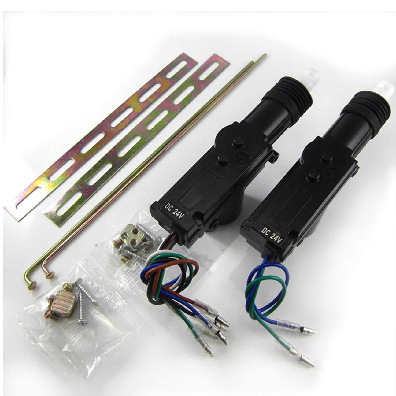 MachinYesity 615-8170 Dispositivo di Allarme per Blocco Centrale del Telecomando per Auto con attuatore Motore Nero 615-8170
