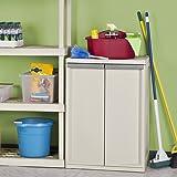 WOSHERD 01408501 2-Shelf Cabinet with Putty