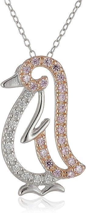 JJAZ DIAMOND PAVE HEART 925 SILVER PENDANT Women Girls Necklace Valentines gift