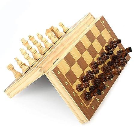 DMMW Juego de ajedrez Juego de ajedrez de Viaje con Tablero de ...