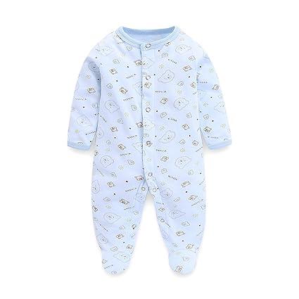 Recién nacido Pijama Bebés Algodón Mameluco Niñas Niños Pelele Sleepsuit Caricatura Trajes 0-3 Meses