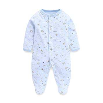 5743bfb828d2cc Baby Strampler Jungen Mädchen Schlafanzug Baumwolle Overalls ...