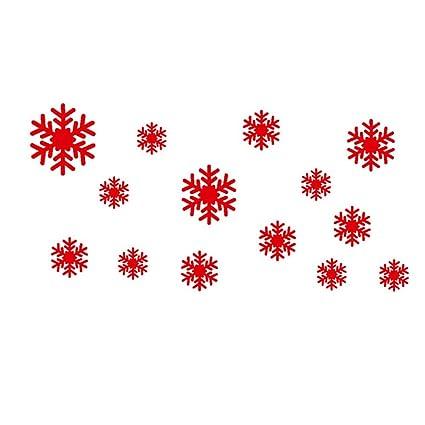 Decorazioni Natalizie Fiocchi Di Neve.38 Grande Fiocco Di Neve Finestra Adesivi Riutilizzabile Decorazioni