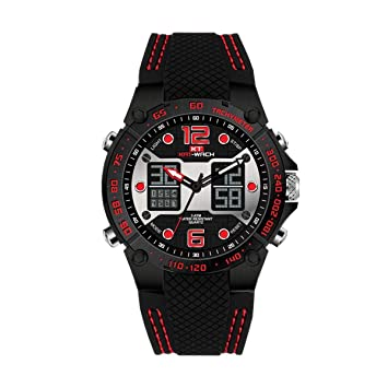 WULIFANG Kat-Ccao Macho Hombre Reloj Reloj Dual Display Digital Reloj De Pulsera Deportivo Moda
