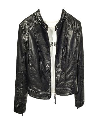 0fdcbd5670f6b Femme Biker Veste Manteau Moto Biker Veste en Faux Cuir Bomber Blousons en  Simili Cuir: Amazon.fr: Vêtements et accessoires