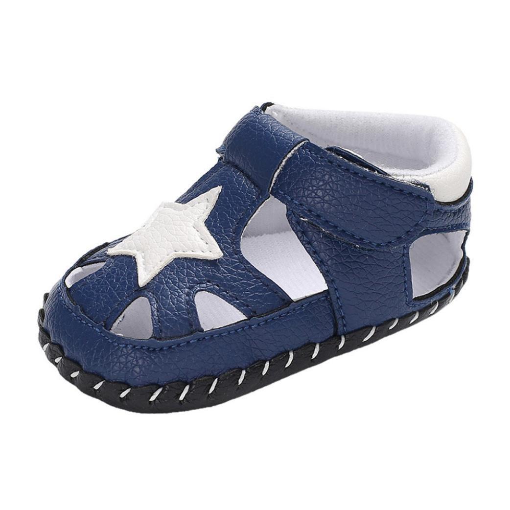 6959ad1059d Lenfesh Enfant GarçOn Fille Été Sandales De Marche ExtéRieur Plates Souple  Semelle Chaussures Sport Bout Fermé Tongs AntidéRapant