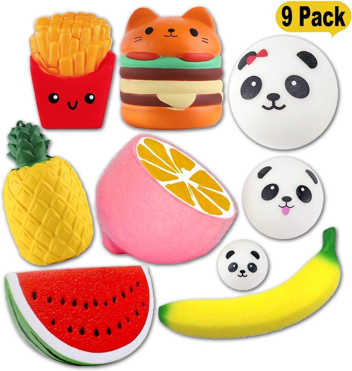 Bothink 9 Paquetes Squishies Lenta Creciente Grande Squishy Juguetes Kawaii Squishys Stress Reliever Toys Squeeze Juguetes para Niños y Adultos: Amazon.es: Juguetes y juegos