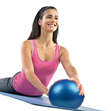 LLQ ejercicio bola para fitness, estabilidad, equilibrio y Yoga 25 cm, 25 cm, Azul: Amazon.es: Deportes y aire libre