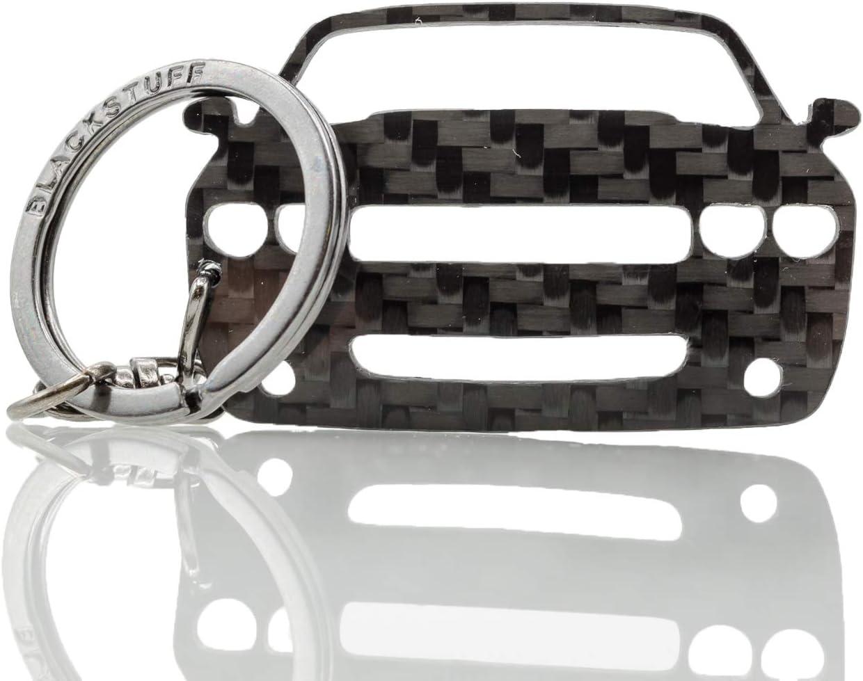 Blackstuff Carbon Karbonfaser Schlüsselanhänger Kompatibel Mit Challenger 2008 2014 Bs 892 Auto