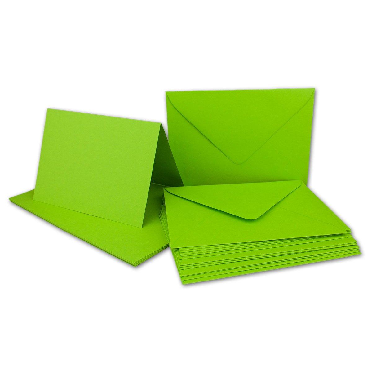 Faltkarten Set mit Brief-Umschlägen DIN A6   C6 in Rosanrot   100 Sets   14,8 x 10,5 cm   Premium Qualität   Serie FarbenFroh® B072BC36HT | Outlet