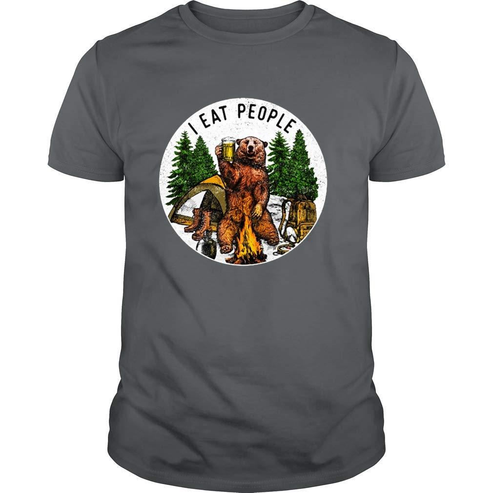 Camping Hiking I Hate People I Eat People Funny Bear Ts Shirts