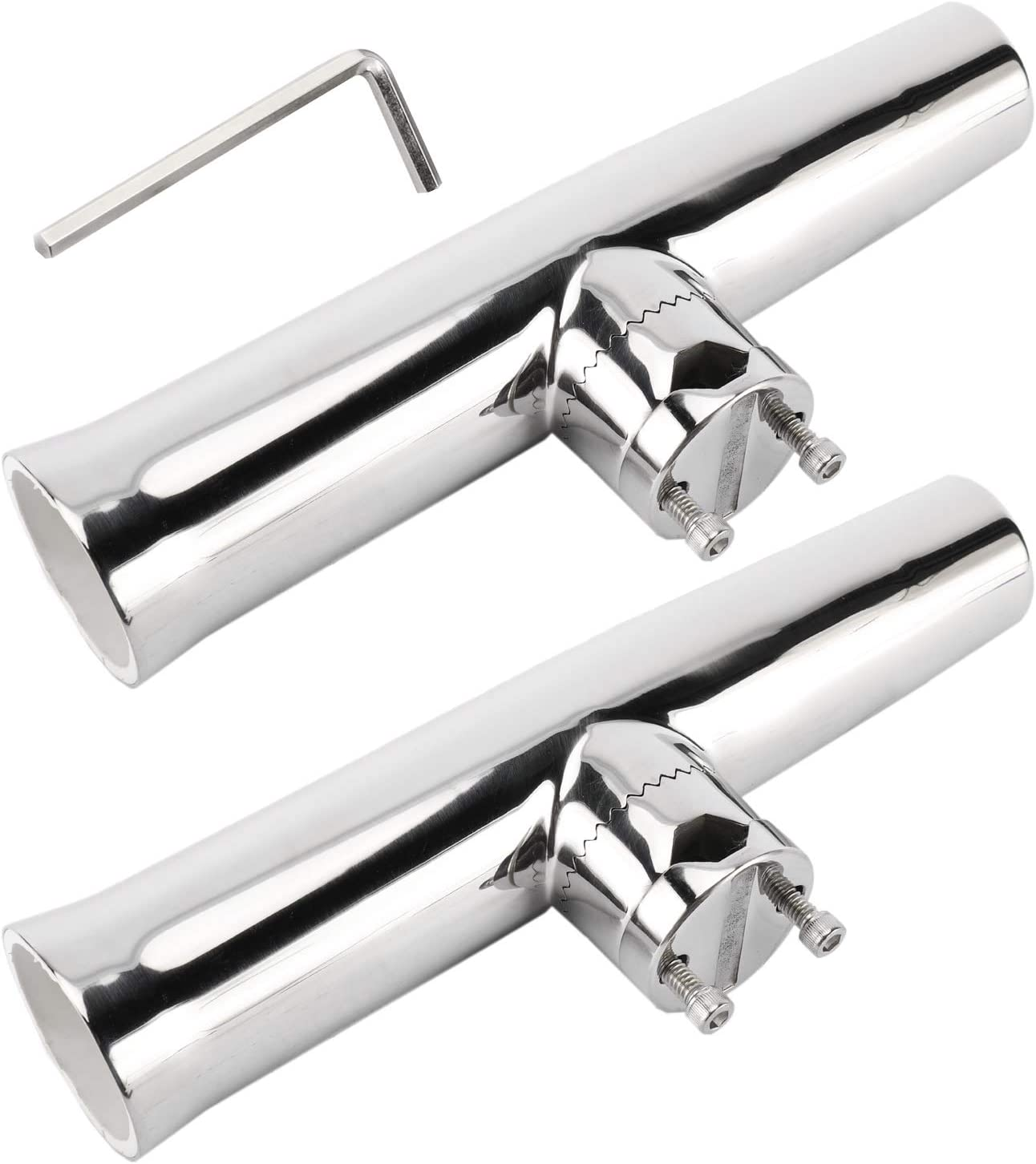 """1x Stainless Steel Rail Mount Clamp on Fishing Rod Holder for Rails 1-1//4/"""" to 2/"""""""
