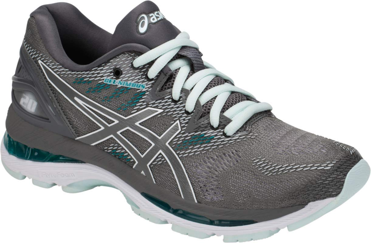 ASICS Women's Gel-Nimbus 20 Running Shoes, 9.5M, Carbon/Carbon