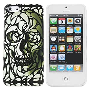 Halloween Grimace Human Bone Pattern Plastic Case For iPhone 5 5S 5G