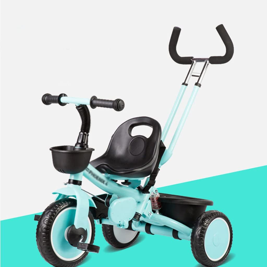 Cochecitos de bebé Neonatal Plegable Triciclo al aire libre Bicicleta para bebés Ligero Carro plegable Carruaje Sillas Ruedas Durables, para bebés de 3 a 6 años de edad (Color : Verde): Amazon.es: Hogar