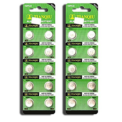AG10 389A LR1130 LR54 L1131 SR1130 Button Cell Batteries [20-Pack]