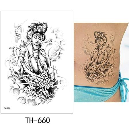 adgkitb Etiqueta engomada del Tatuaje Temporal 3pcs Falso Tatuaje ...