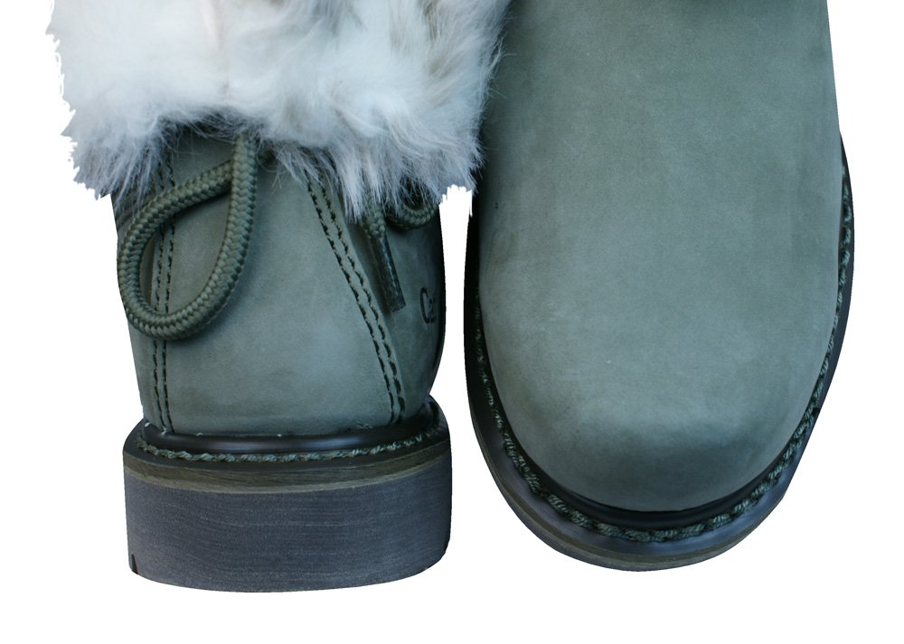 2f45d61ec199e6 Caterpillar Bruiser Scrunch Womens Fur Lined Winter Boots - Olive   Amazon.com.au  Fashion