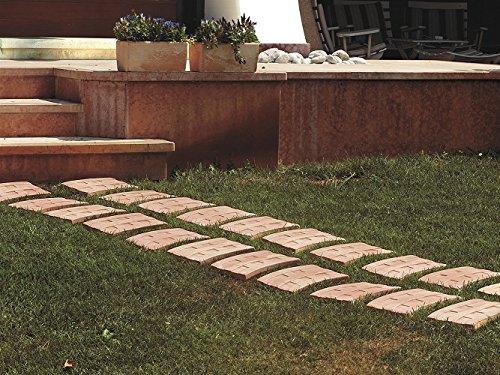 Terracotta Tiles Garden Pack Of 5 Outdoor Flooring Steps For