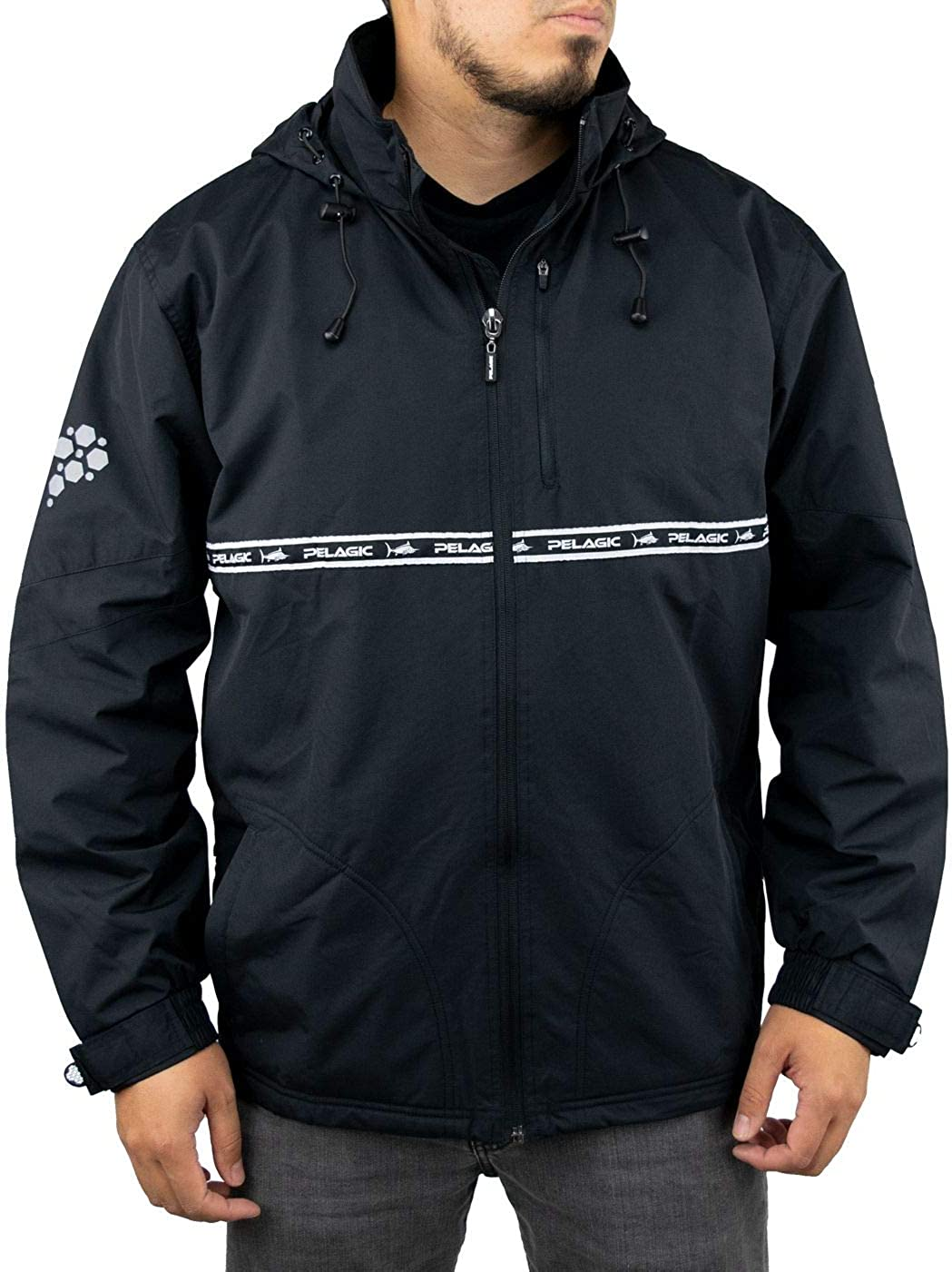 PELAGIC Mens Hurricane Jacket Adjustable Cuffs and Waistband Waterproof Shell