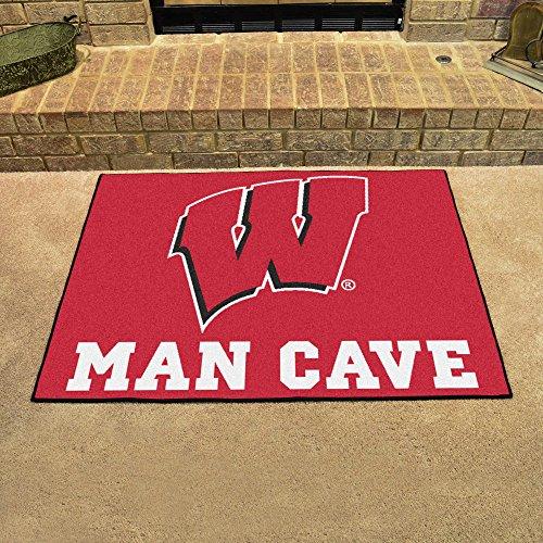 NCAA University of Wisconsin Team Logo Man Cave All-Star Mat - ()