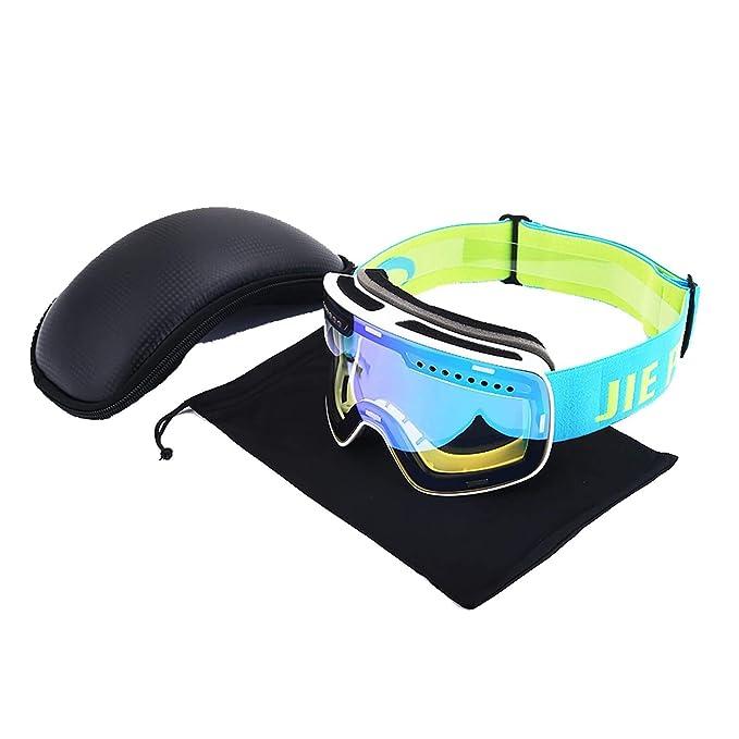 d716f497bc Beydodo Gafas de Esqui Gafas Hombre Gafas Mujer Gafas de Nieve Gafas  Deporte Polarizadas Gafas de