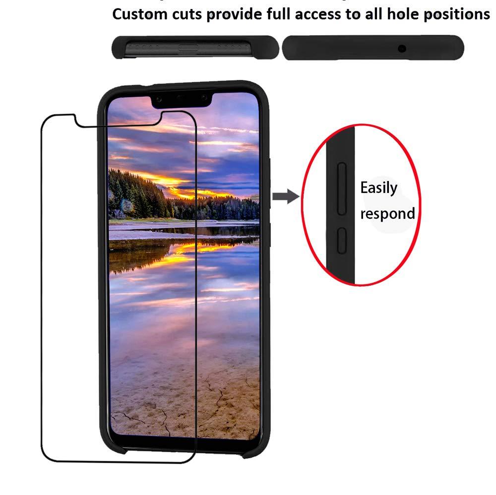 Funda de Goma de Silicona L/íquida de Tacto Suave Protector Pantalla KANSI Funda Compatibles para Huawei Mate 20 Pro Rojo Funda de Gel F/ácil de Limpiar y Antigolpes