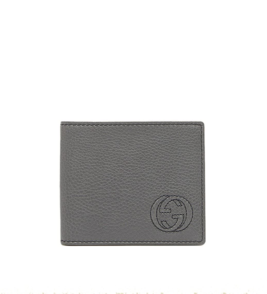 aa2e42c0a29e Gucci Soho Leather Bi-fold with ID Window Wallet, Grey 322118 at Amazon  Women's Clothing store: